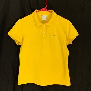 Sunshine yellow lacoste collared shirt